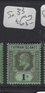 CAYMAN ISLANDS (P1111B)   KE  1/-   SG   33     MOG