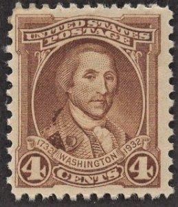 US 709 MNH VF 4 Cent Washington-Brown
