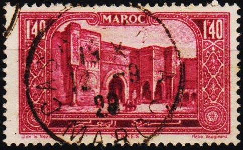 Morocco(French). 1917 1f40  S.G.143 Fine Used