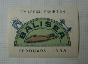 1938 BALISEA NY Philatelic Event Souvenir Label AD