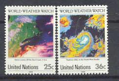 U.Nations New York 550-51 MNH World weather, 82x,SCV172