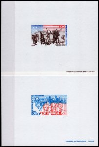 Senegal 1975 Sc#C141/C142 AMERICAN BICENTENNIAL DELUXE S/S (2) IMPERFORATED MNH