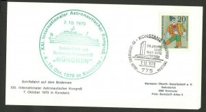 GERMANY - CARD - INTERNATIONAL ASTRONAUTICAL CONGRESS (IAF) , KONSTANZ - 1970.