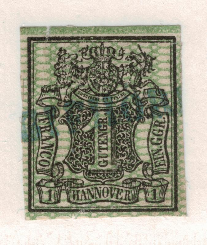 Hannover (German State) Stamp Scott #11, Used