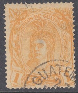 GUATEMALA  An old forgery of a classic stamp................................C879