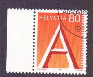 Switzerland 1993 cancelled A first class mail stamp  80c.    #