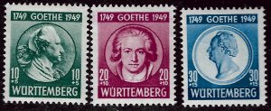 Wurttemberg French Zone SC 8NB9-B11  Mint VF....Specialty Bargain!!