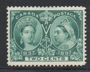 Canada Sc 52 1897 2 c green Victoria Jubilee stamp mint