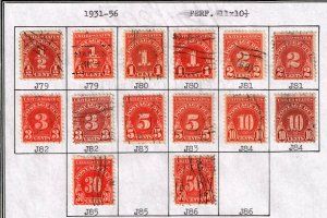 US STAMP POSTAGE DUE STAMPS LOT