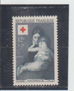 France  Scott#  B291  MH  (1954 The Sick Child)