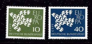 Germany 844-45 MNH 1961 Europa Issue