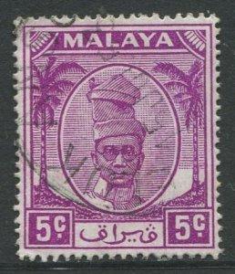 STAMP STATION PERTH Perak #120 Sultan Yussuf Izuddin Shah Used 1952-55