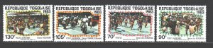 Togo. 1983. 1656-59. Folk dances. MNH.