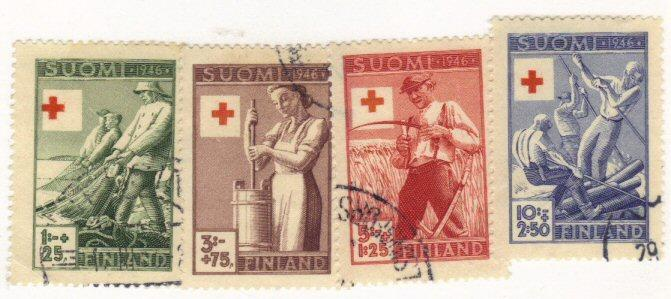 Finland #B74-77 used cpl semipostals