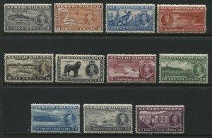 Newfoundland 1937 KGVI Coronation complete set mint o.g. hinged