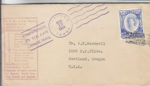1934, Niuafoou, Tonga to Portland, OR, See Remark (38801)
