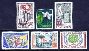CAMEROON — SCOTT 331//338 — 1958-60 POST-INDEPENDENCE ISSUES — MLH — SCV $8.70