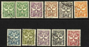 Malta SGD32/41 Post Due Set of 10 Fine Used Cat 18 pounds