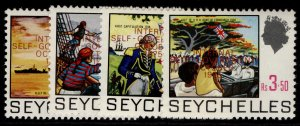 SEYCHELLES QEII SG338-341, 1975 internal self-government set, NH MINT.