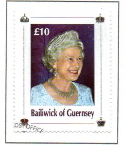Guernsey Sc 911 2006 £10 80th Birthday QE II stamp used