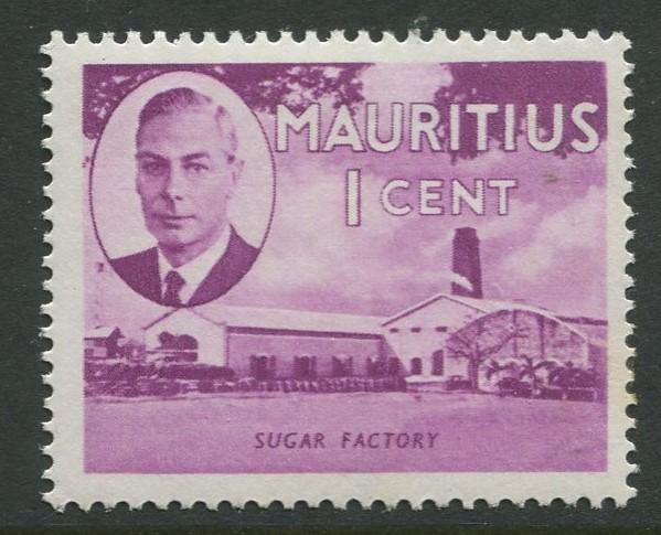 Mauritius - Scott 235 - KGVI Definitive Issue -1950 - MVLH -Single 1c Stamp