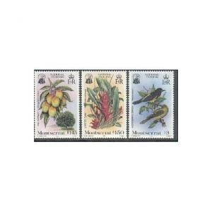 Montserrat 551-553,MNH.Michel 565-567. 1985.Mango,Lobster Claw,Oriole.