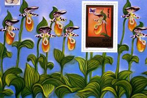 Mongolia 1997 BUTTERFLIES ORCHIDS s/s Perforated Mint (NH)