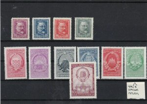 Yugoslavia Mint Never Hinged 1948 Stamps Ref 30633
