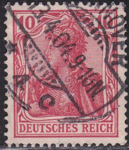 Germany 68 USED 1902 Germania 10pf