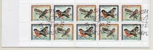 Faroe Islands Sc 314a 1997 Birds stamp booklet pane used in booklet