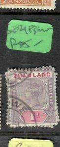 ZULULAND  (P2305B)  QV  1D  SG 21  ESHOWE   VFU