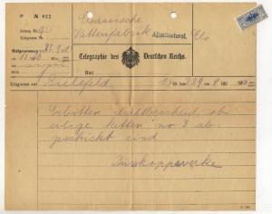 ALSACE - ca.1910 - Telegramme - ALTMÜNSTEROL (MONTREUX-VIEUX) +timbre (b)