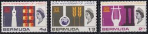 Bermuda 207-209 MNH (1966)