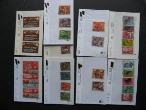 Switzerland U collection assembled in sales cards, much BOB back of book here!