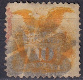 US  #116  F-VF Used CV $110.00 (Z3829)