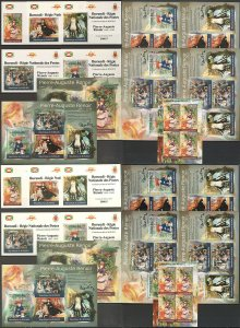 BU35 IMPERF,PERF 2012 BURUNDI ART PAINTINGS PIERRE-AUGUSTE RENOIR 12KB+12