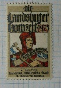 Landshut Wedding History Munchin DE Exposition Poster Stamp Ads