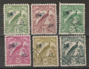 NEW GUINEA 1932 UNDATED AIRMAIL RANGE TO 5D USED
