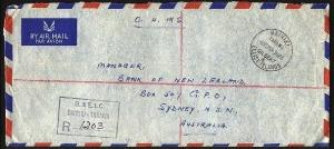 GILBERT & ELLICE IS 1965 OHMS cover registered BAIRIKI to Australia........94578
