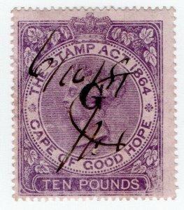(I.B) Griqualand West Revenue : Duty Stamp £10
