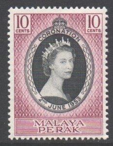 Malaya Perak Scott 126 - SG149, 1953 Coronation 10c MH*