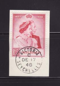 Seychelles 152 On Piece U King George VI Silver Wedding