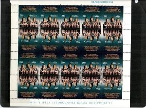 Italy Scott 2003 Mint NH sheet (Catalog Value $25.00)
