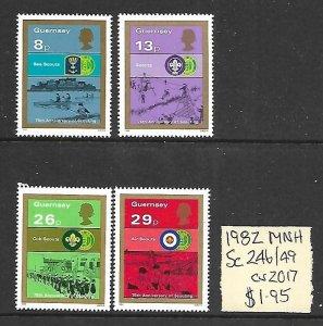 Guernsey MNH 246-9 Scouting 1982 SCV 1