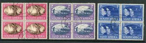 South Africa SG108/10 1945 Victory Used Blocks