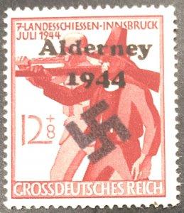 Germany-1944 W/W-Rifleman Nazi Swastika Ovpt-MNH