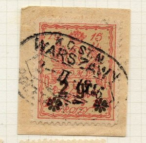 Poland Warsaw 1916 Early Issue Fine Used 2gr. Surcharged Postmark NW-14433