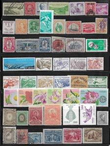 Central/South America 98 stamp mini-coll. mix cond. 2018 SCV $316.80 -   12973