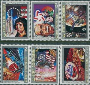 Comoro Islands 1976 SG191-196 American Revolution set MNH