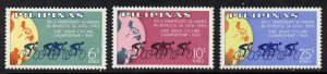 Philippines 939-41 MNH Map, 2nd Asian Cycling Championship